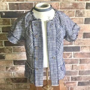 BCBG MaxAzria fitted tweed blazer XXS